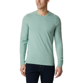 Columbia Cades Cove LS Graphic Tee Men, aqua tone outdoor park